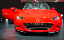 Mazda 2016 MX5 dans le CIAS Photo libre de droits
