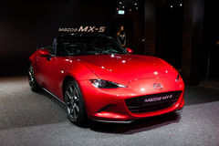 Mazda mx-5 in Genève Royalty-vrije Stock Foto