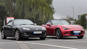Mazda MX5 Mark 3 & 4 Stock Image