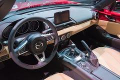 Mazda MX-5 Miata na pokazie podczas losu angeles Auto przedstawienia Zdjęcie Stock