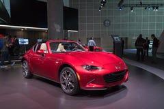 Mazda mx-5 Miata op vertoning tijdens La Auto toont Stock Foto's