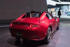 Mazda mx-5 Miata op vertoning tijdens La Auto toont Stock Fotografie