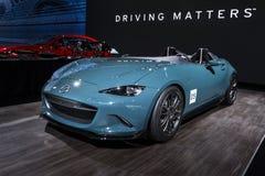 Mazda mx-5 (Miata) Snelheidsmaniakconcept Royalty-vrije Stock Fotografie
