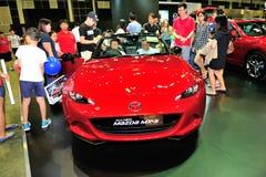 Mazda mx-5 vertoning tijdens Singapore Motorshow 2016 Stock Fotografie