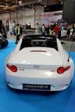 Mazda MX-5 wystawiający przy MOTO przedstawieniem w Krakowskim Polska obrazy royalty free