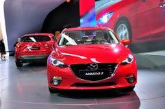 Mazda 3 op IAA 2013 Stock Foto