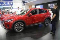 Mazda på den Belgrade Car Show Royaltyfri Bild