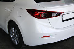 Mazda restyling  white Royalty Free Stock Photos