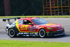 Mazda RX-8 acing car Royalty Free Stock Photos