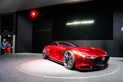 Mazda RX Vision Concept Car. At the 86th Geneva International Motor Show in March 2016 Royalty Free Stock Image
