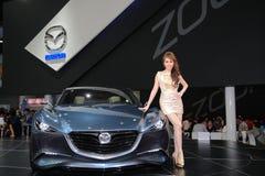 Mazda Shinari with unidentified model Royalty Free Stock Photography