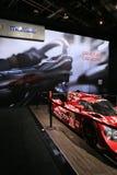 Mazda skärm och prototypracerbil Arkivfoto