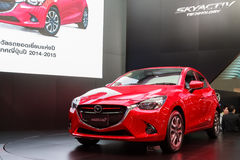 MAZDA 2 SKYACTIV car on world premiere display Royalty Free Stock Image