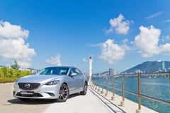 Mazda6 SKYACTIV-D 2015 Test Drive Day Royalty Free Stock Images
