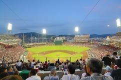 Mazda Stadium. The Hiroshima Toyo Carp vs the Yokohama Baystars at Mazda Stadium Stock Image