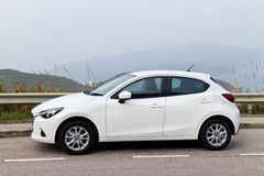 Mazda2 2015 Test Drive Royalty Free Stock Photography