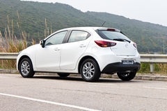 Mazda2 2015 Test Drive Royalty Free Stock Image