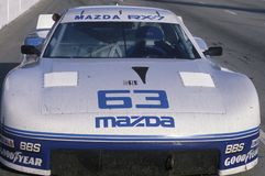 A Mazda Trans AM in the Toyota Grand Prix Car Race in Long Beach, CA Royalty Free Stock Photo