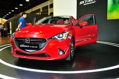 Mazda2 vertoning tijdens Singapore Motorshow 2016 Royalty-vrije Stock Afbeelding