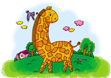 Giraffe maze Royalty Free Stock Photography