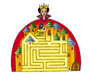 Palace maze Royalty Free Stock Photo