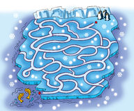 Snow maze Royalty Free Stock Photo