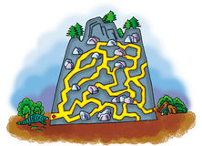 Rock maze Royalty Free Stock Photography
