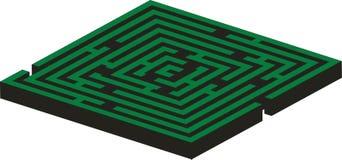 Maze 02 color. Maze 02 in green color vector illustration