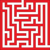 Maze. Vector illustration of small maze Royalty Free Stock Photography