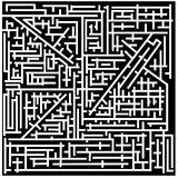 Maze. Complicated system of corridors with only one possible way Royalty Free Stock Images