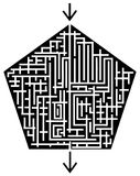 Maze. Complicated system of corridors with only one possible way Royalty Free Stock Image