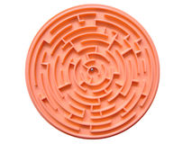 Maze. With ball inside isolated in white color Stock Photo