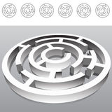 Maze. An image of a 3D Maze Royalty Free Stock Images