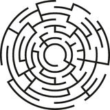 Maze. Vector maze with circle shape Royalty Free Illustration