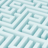 Maze. 3d Illustration of Blue Maze Background or Wallpaper Stock Photos