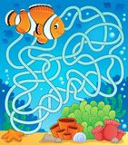 Maze 18 With Fish Theme Stock Image