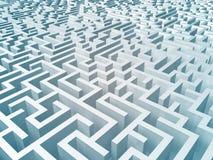 Maze. 3d rendering of a huge confusing maze. Don't get lost vector illustration