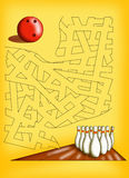 Maze 19. Color illustration of a maze for children Stock Photos