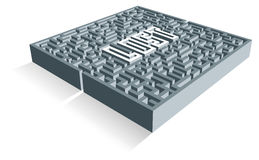 Maze. Concept illustration of a labyrinth. Illustrating being disorientated, confused or lost Royalty Free Illustration