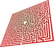 Maze. How to find the way through a maze Royalty Free Stock Photo