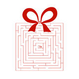 Maze. New Year's gift, a maze Stock Illustration