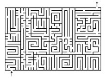 Maze. A difficult labyrinth (maze) chart illustration for children play Stock Photo