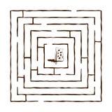Maze 3 Royaltyfri Illustrationer