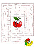 Maze 36. Color illustration of a cute maze for children Stock Image