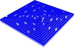 Maze 3D Stock Illustrationer