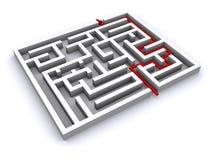 maze 3d Royaltyfri Illustrationer