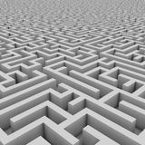 Maze 3d illustration Royalty Free Stock Images