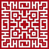 Maze. Vector illustration of Indian maze pattern Royalty Free Stock Photography