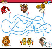 Maze activity for children Royalty Free Stock Photos