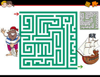 Maze activity game Stock Images